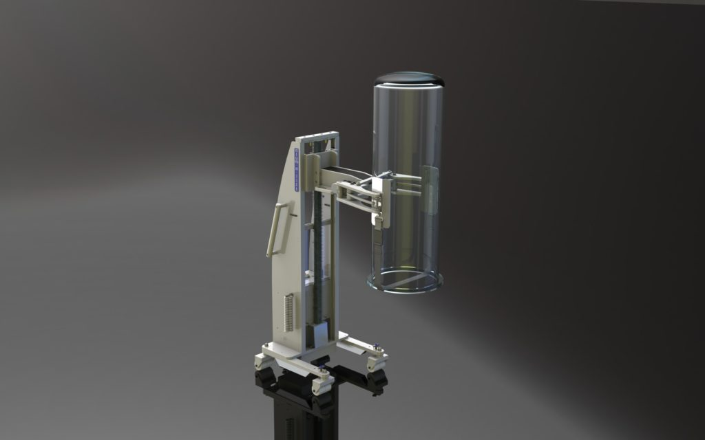 Clamping Lift with Quartz Glass