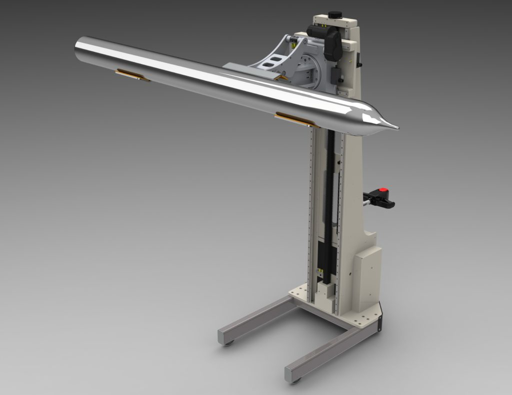 Clamping Lift for Rotating Silicon Ingots