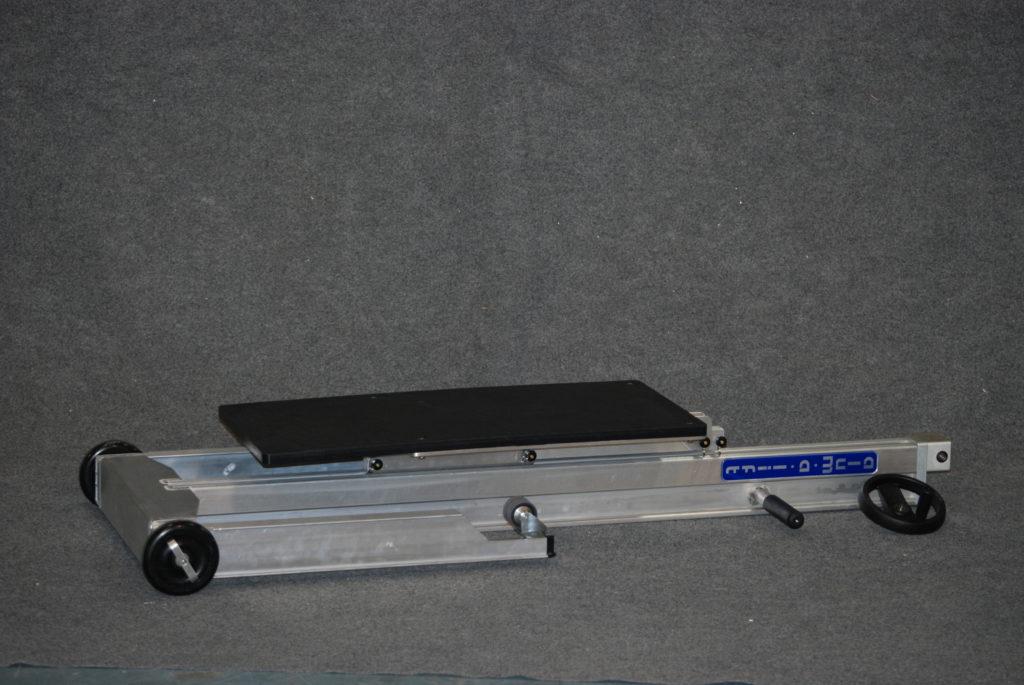 Field Service Trav-a-Lift with Plastic Platform Folded for Transport