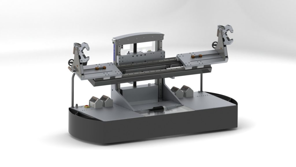 Large Roll Transporter and Lift with Adjustable Cradles