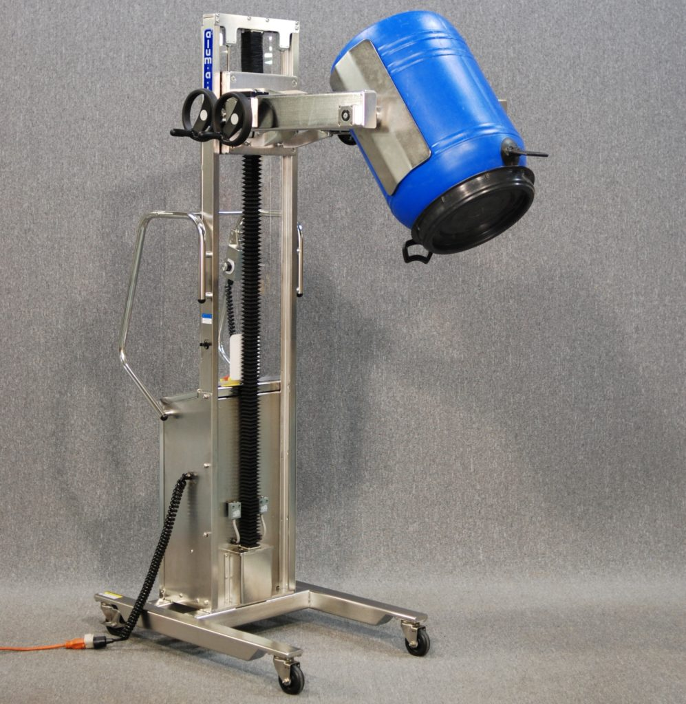 IP65 Stainless Steel Lift with Clamp and Forward Rotation for Dumping Drums