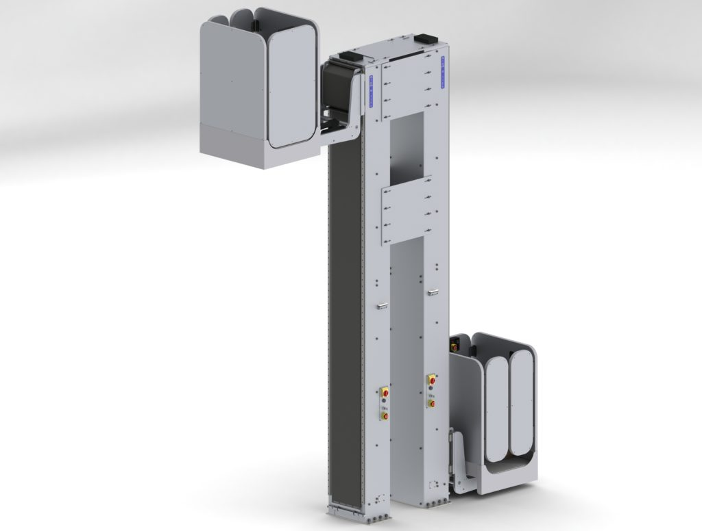 Floor-Mounted Dual Personnel Lifts with Aerial Work Platforms