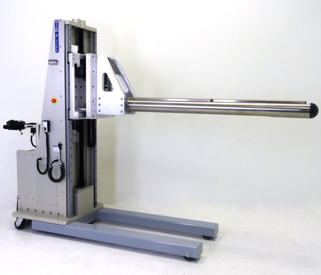 Portable Custom Roll Handling Equipment with 6-inch Prong and Embedded Weigh Scale