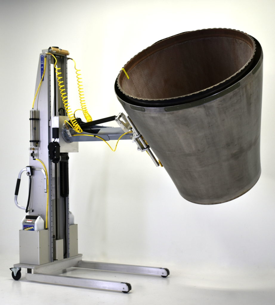Portable Custom Ergonomic Lift with Aircraft Exhaust Nozzle Manipulator