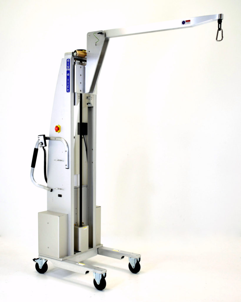 Custom Mobile Electric Lift with Jib Arm and Hoist Ring