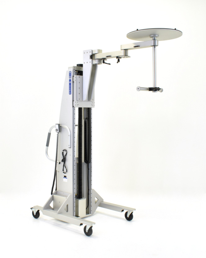 Cleanroom Sputtering Target Chamber Lift with Articulating Arm
