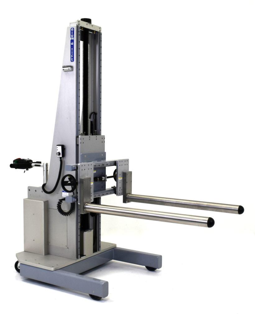 Adjustable Width Dual Prong Portable Roll Handling Lifting Equipment