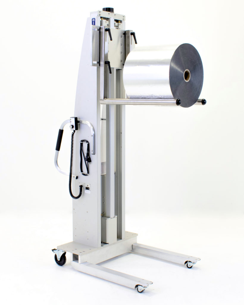 Roll Handling Lift with Dual Adjustable Prongs