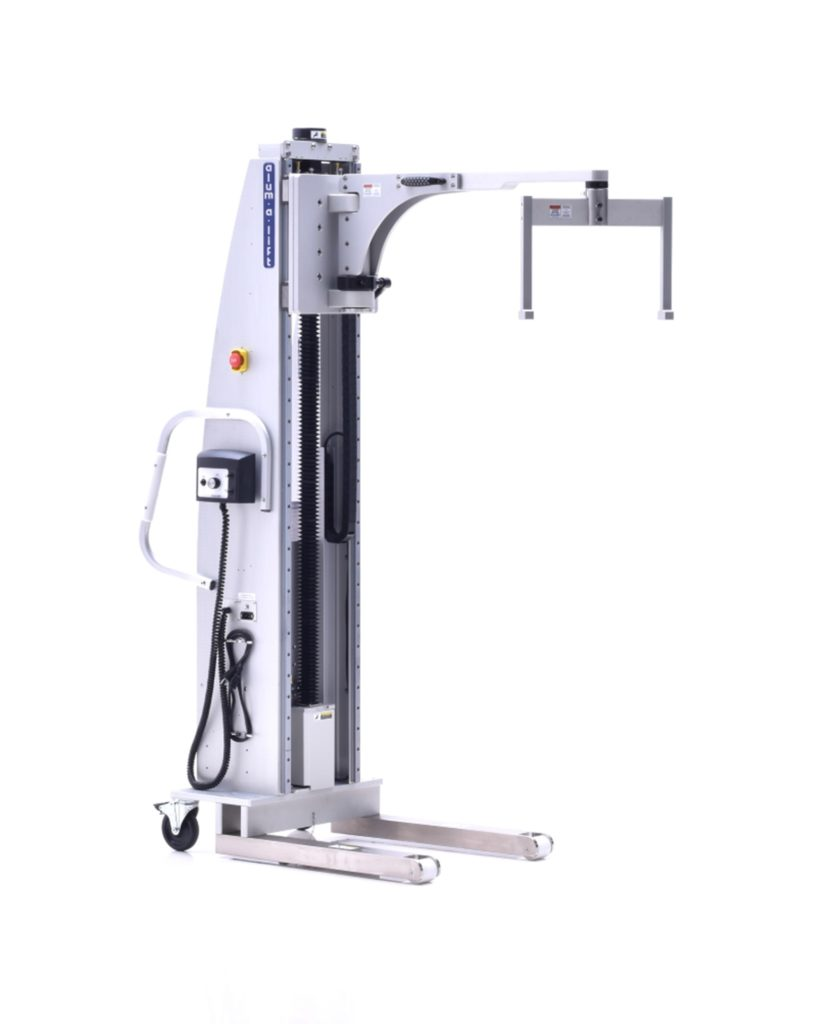Portable Ergonomic Cleanroom Lift with Swivel Boom and Fixture